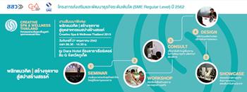 งานสัมมนาพิเศษ: พลิกแนวคิด | สร้างจุดขาย สู่อุตสาหกรรมสปาสร้างสรรค์ Creative Spa & Wellness Thailand 2019 Zipevent