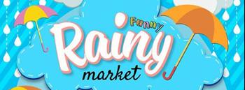 Funny Rainy Market Zipevent